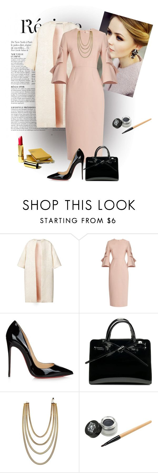 """""""Untitled #2208"""" by swc0509 ❤ liked on Polyvore featuring Anja, Esme Vie, Roksanda and Christian Louboutin"""