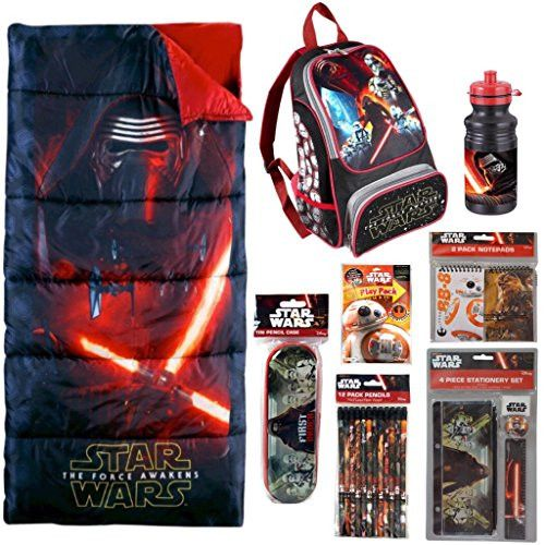 Star Wars Sleeping Bag, Backpack, Water Bottle, Stationery & Activity 23pc Set