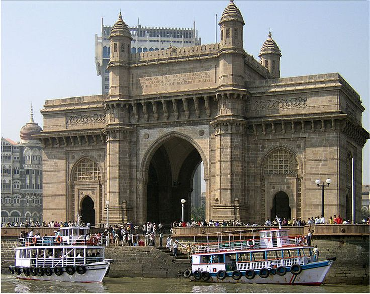 The Gateway of India Building-An Historical British Monument in Mumbai, India