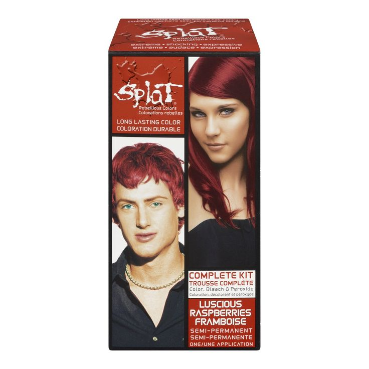 Splat Null, Luscious Raspberries. Splat. Hair Dyes. SPLAT, Hair Color.