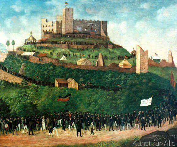 Joseph Weber - Zug auf das Hambacher Schloß am 27. Mai 1832.