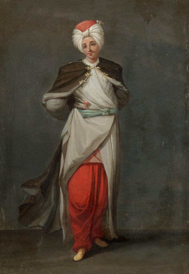 Gerard Jean Baptiste Scotin:Tchelebi, a young Turkish lord, 18th century