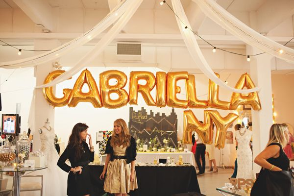 How awesome would your name look spelled out in gold balloons?