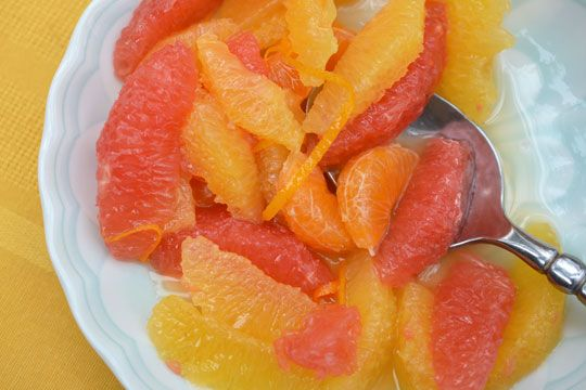 Citrus Compote to try with oatmeal (Vitamin C + healthy CHO/fiber) or ...