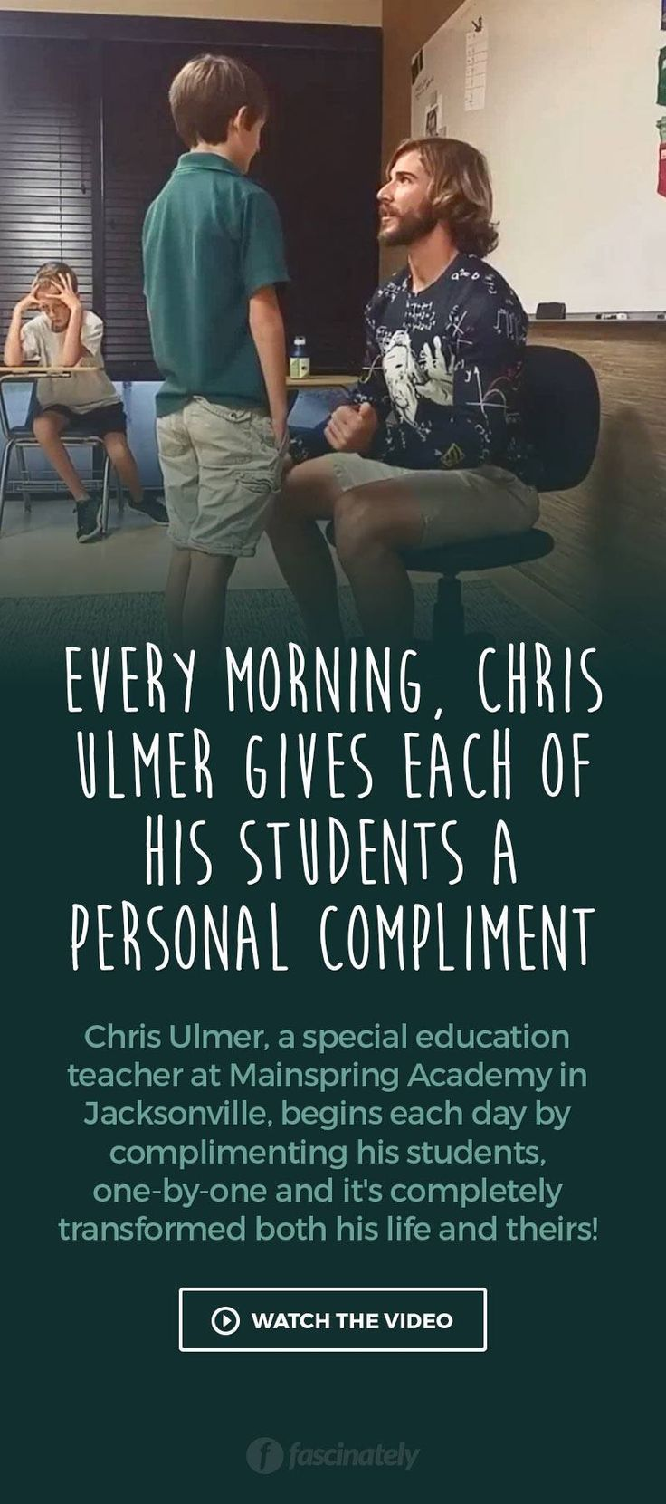 Every Morning, Chris Ulmer Gives Each of His Students a Personal Compliment