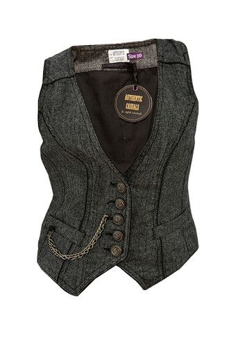 New Authentic Casuals Ladies Womens Grey Herringbone Waistcoat | eBay