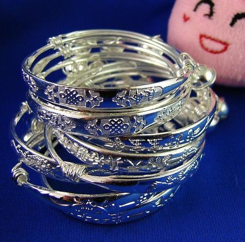 Silver baby kid bell bracelet bangle adjustable: Babies, S80 Silver, Belle Bracelets, Kids Belle, Baby Kids, Baby Bangles, Bangles Adjustable, Silver Baby, Bracelets Bangles