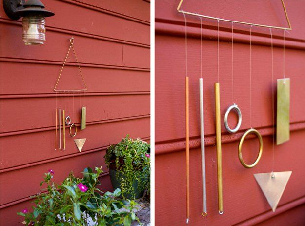 Creative Homemade Wind Chime Projects | Modern Wind Chime by DIY Ready at http://diyready.com/32-diy-wind-chimes/