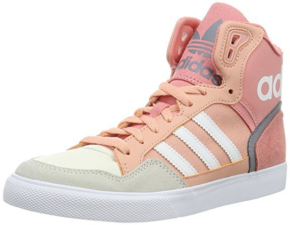 adidas Damen Extaball Hohe Sneakers, Pink (Dust Pink/Ftwr White/Grey), 41 1/3 EU