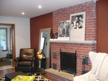 Living Rom With Red Brick Fire Place 12 242 Red Brick
