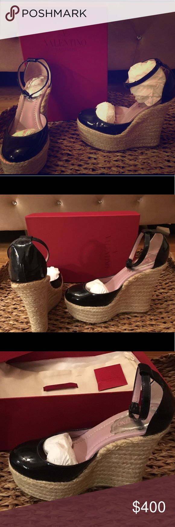 Authentic Valentino wedges 👌🏽🙌🏻 These shoes are in great condition. They have been worn a couple times but are good as new!! Take it while it's hot!! 👅💋 Valentino Shoes Wedges