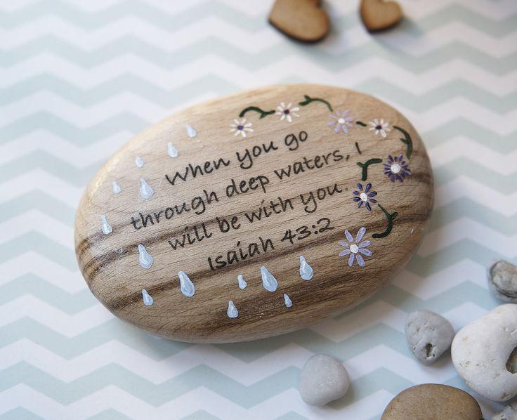 Isaiah 43:2.  'Pick Me Up Pebbles ©' by Far Far Away Art, Etsy.