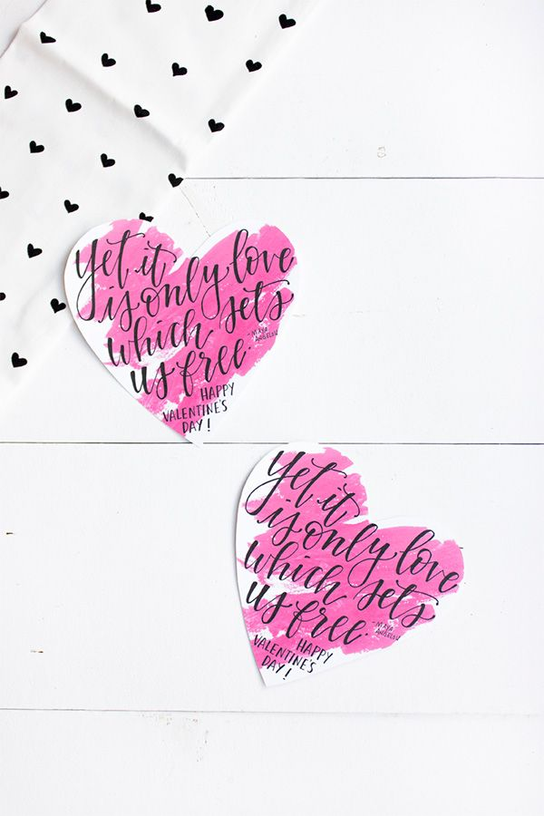 Printable calligraphy valentines it is and maya