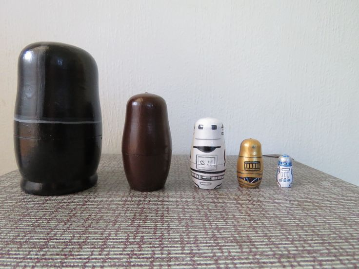 Up cycled Hand Painted Star Wars Russian dolls - Backs
