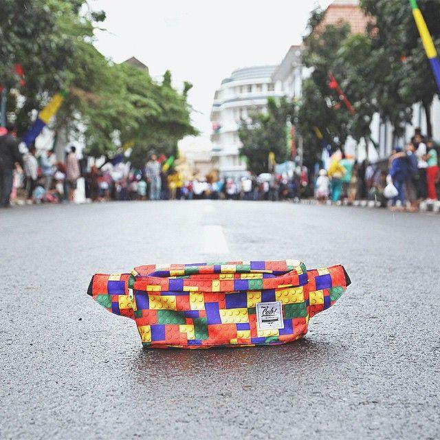 At Asia Afrika Street West Java, Bandung on Asia Afrika Conference festival day, #bags #products #outdoors #waistbag #festival #asiaafrika #slingbag #explorebandung #wisata #jalanjalan #vacation #holiday #traveling #traveler #urbantraveling