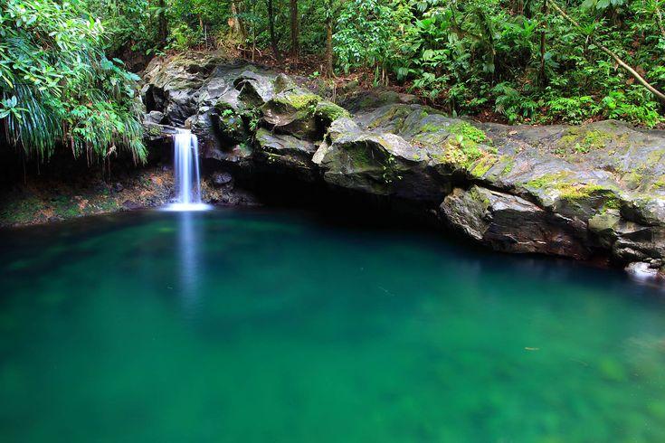 La chute du bassin Paradise en Guadeloupe