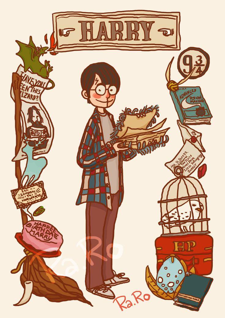 Harry a cuadros.