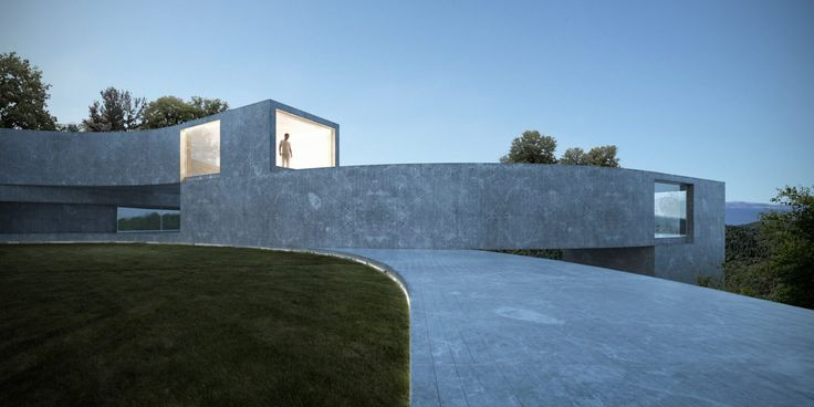 Sinuous blocks frame tiered gardens in housing concept by Fran Silvestre