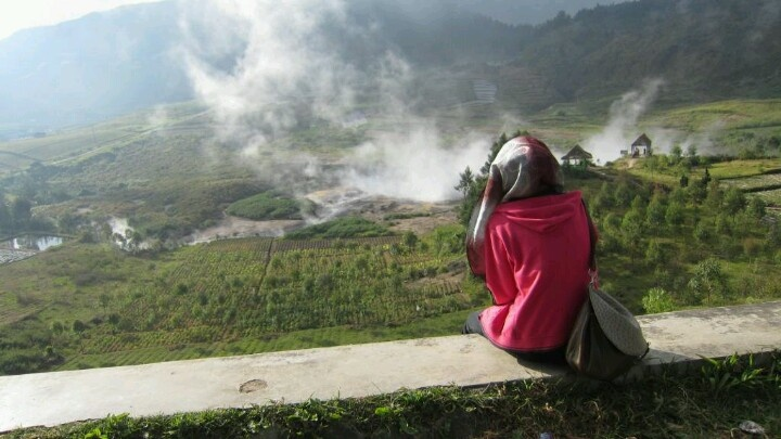 Here, I'm at Dieng Plateu #Indonesia