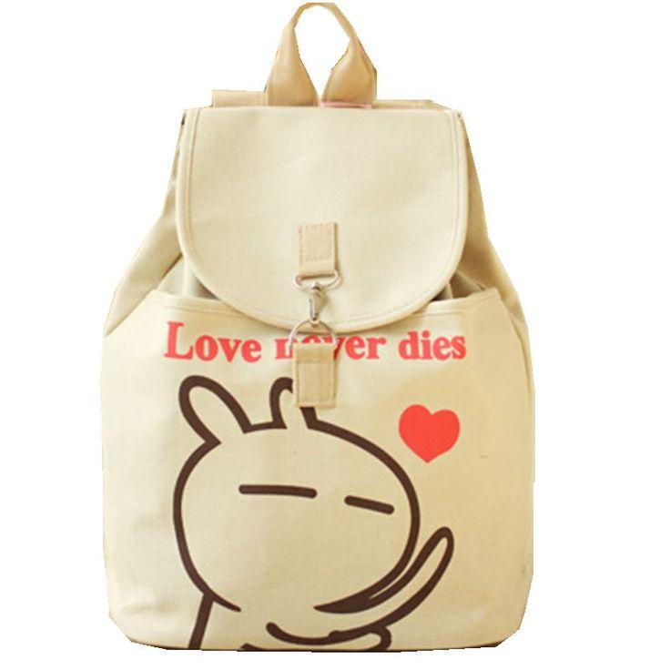Мода холст женщины рюкзак школьный портфель мультфильм студент женская сумка на плечо улыбка женщины рюкзак 16 цвета прямая поставка