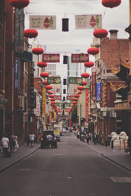 Melbourne's China Town. The atmosphere here is electric! Amazing food and interesting locals.
