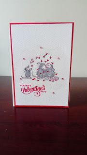 Valentine's Day card with House Mouse stamp.