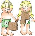 Adam and Eve Craft with clothes that God made them.