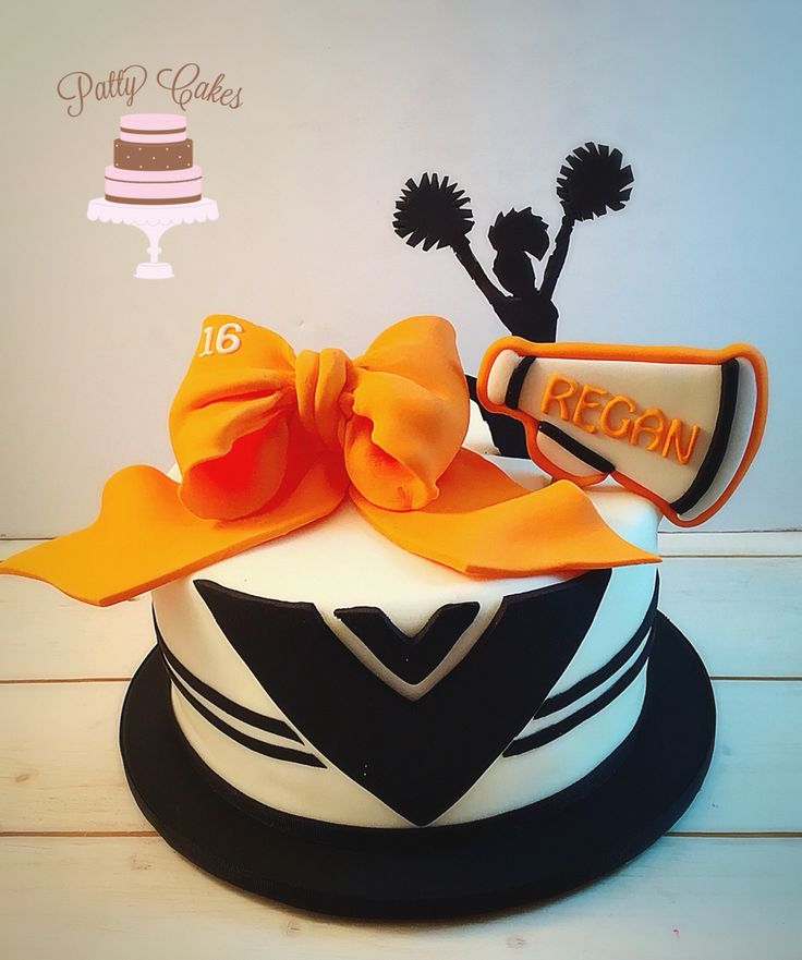 Cheerleading birthday cake