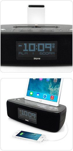 Amazon.com: iHome iDL44 Lightning Dock Dual Clock Radio with USB Charge/Play for iPhone 5/5S & 6/6Plus 7/7Plus & All iPad Models with Lightning Connector - Newest Model (Gunmetal): Computers & Accessories