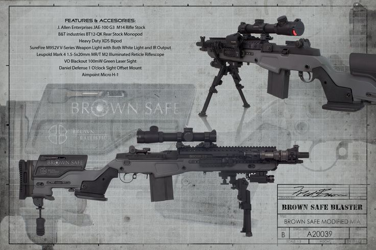 Brown Safe's M1A Socom II from Springfield Armory: Idea, M14S