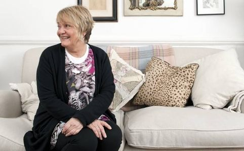 Homewares buyer for Selfridges, Geraldine James, at her own pad in Putney, London.