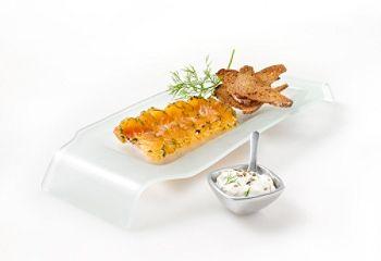 Saumon gravlax, sauce à l'aneth