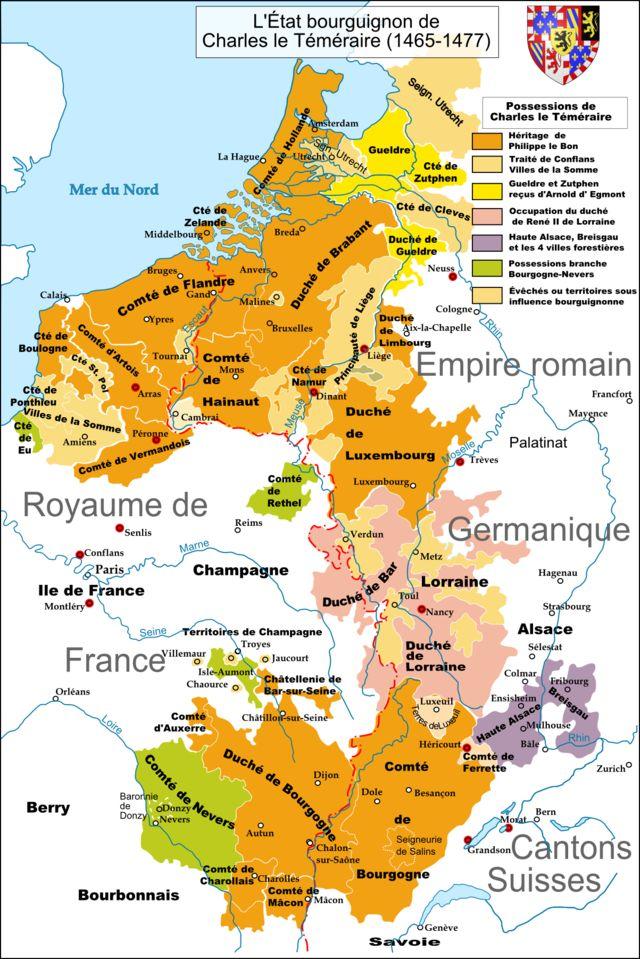 The last Duke of Burgundy, Charles the Bold (1433-1467-1477), also called Charles le Téméraire, Karl der Kühne, Karel de Stoute...