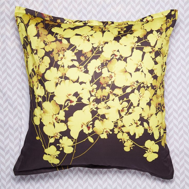 Bloom Gold Euro Pillowcase - LUXOTIC