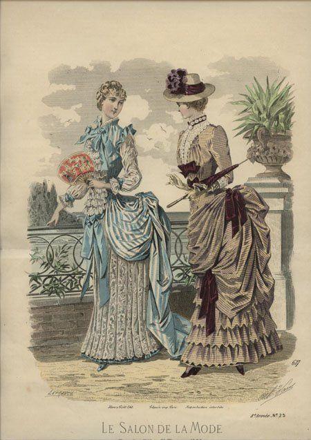 610 best fashion illustrations 1880 1884 images on for Salon a la mode