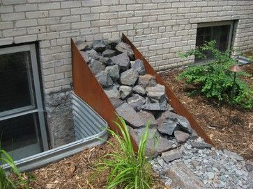 Corten Rain Diverter   Eclectic   Landscape   Minneapolis   Spark Hut    Metal Art Design