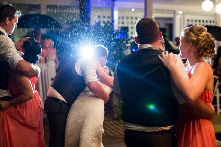 Magical first dance in the rain at Peppers Beach Club & Spa in Palm Cove
