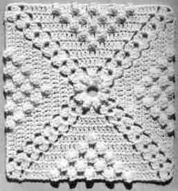 popcorn bedspread ~ free pattern