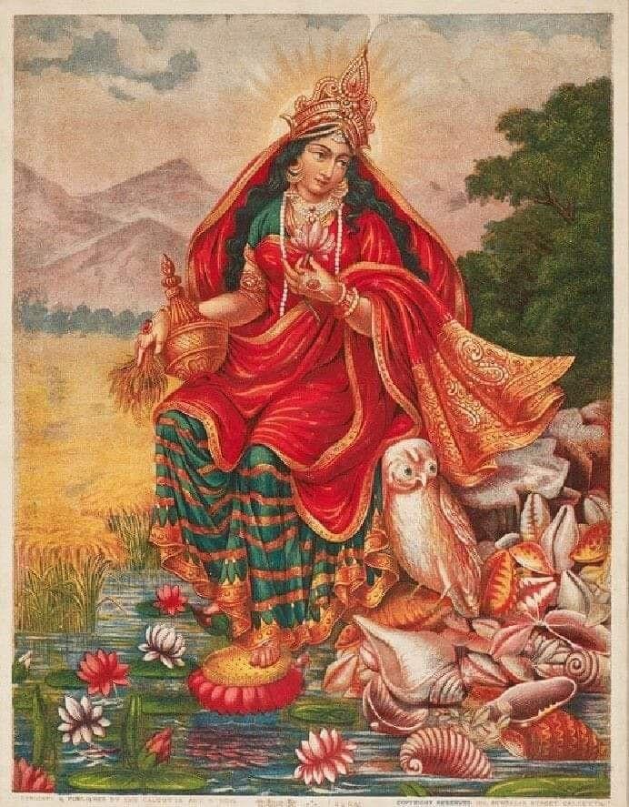 Once upon a time, Goddess Lak… | THE IDEAS (religion, mythology and