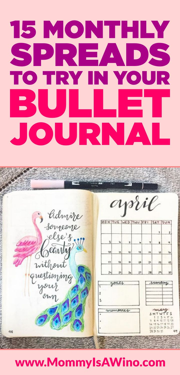 15 Monthly Spreads To Try In Your Bullet Journal - Monthly Bullet Journal Layout