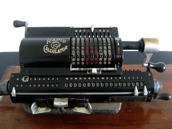 antique American made mechanical calculator pinwheel calculator rapid calculator by whimsicalbazaar, $425.00