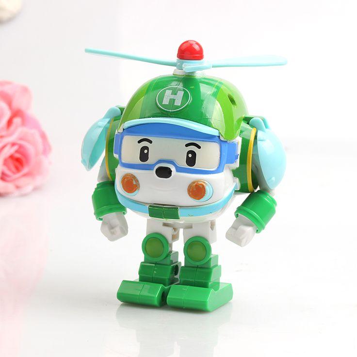 Corea de Dibujos Animados de Coches Juguetes Anime Brinquedos Popular Helly Robot Transformación Creativa Niños Modelo Juguetes Regalos de Navidad