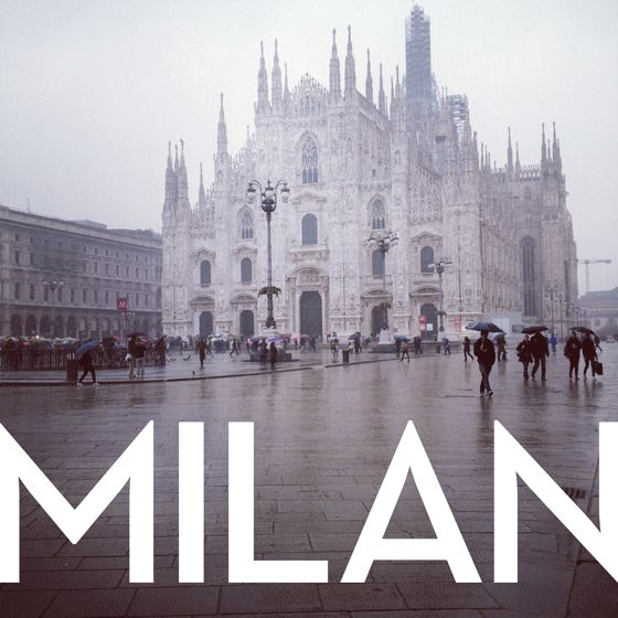 Milan, Italy: where my dad was born and raised <3  he was a good ol' country boy