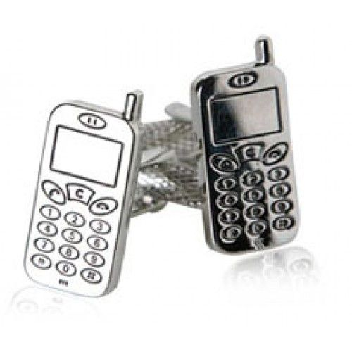Cellphone Technology Mobile Communication Cufflinks Men's