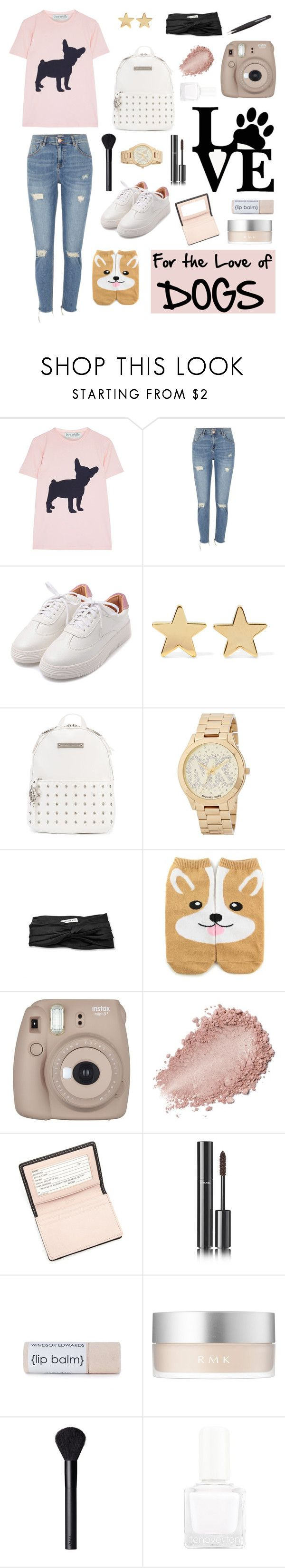 """For the love of dogs"" by at-39thst-fashion ❤ liked on Polyvore featuring River Island, Jennifer Meyer Jewelry, Thomas Wylde, Michael Kors, Eugenia Kim, Forever 21, WALL, Fujifilm, Royce Leather and Chanel"
