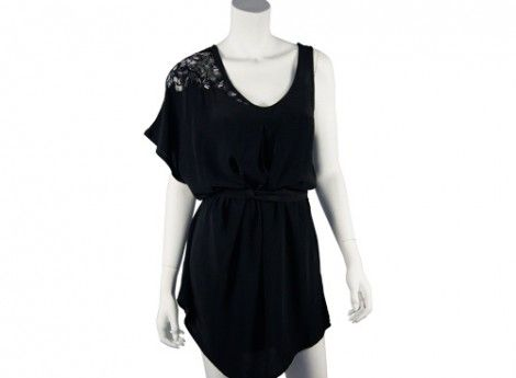 Ikebana beaded dress - black with silver hand beading | Hussy Clothing Sydney |Hussy Clothing Sydney |