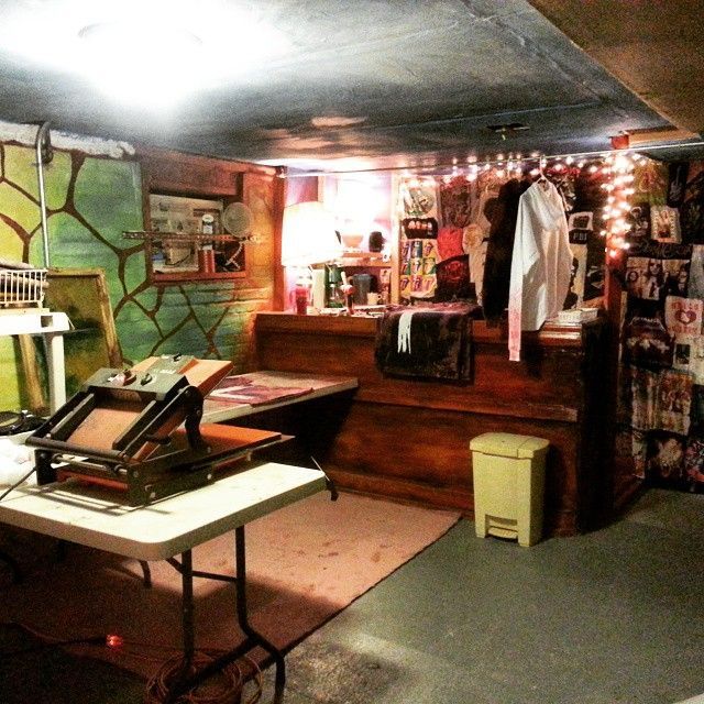 Band room rabbit hole is now Love Nico studio.  Like a kindergarten wonderland... #silkscreen #studio #artstudio #teecompany #lovenico #lovenicotees #art #fashion #nyc #brooklyn