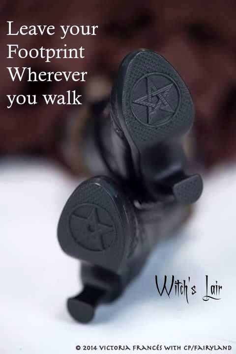Magick Wicca Witch Witchcraft:  Leave your footprint wherever you walk. - Pinned by The Mystic's Emporium on Etsy