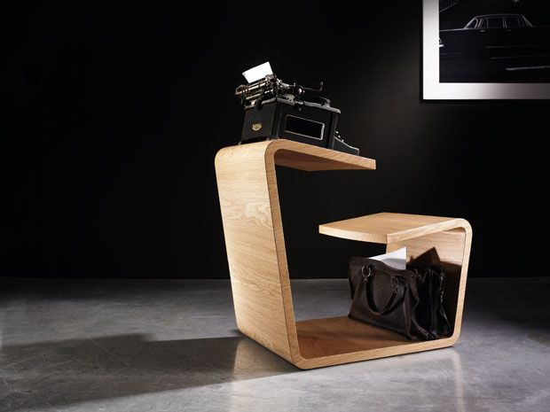 Derlot Editions - For the reader, the writer, the artist; Solitaire combines a chair and table for one to create a personal, portable workstation for any number of uses.
