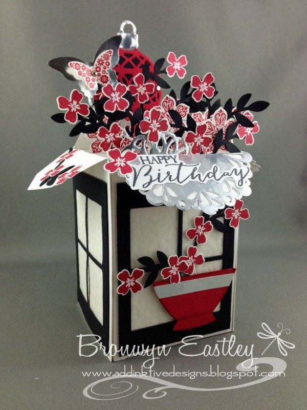 Oriental Card in a Box by BronJ - Cards and Paper Crafts at Splitcoaststampers